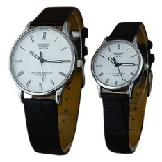 Jual Ormano Jam Tangan Couple Hitam Putih Strap Kulit Sw Analog Watch Ormano Ori