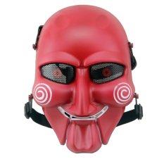 Spek Cs Kolam Permainan Aktivitas Saw Masker Menjaga Anime Ventilasi Wajah Topeng Wajah Penjaga Merah