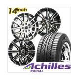 Miliki Segera Paket Cicilan 4 Velg Racing 14 Inch 4 Ban Achilles Gratis Pasang Kirim Jabodetabek