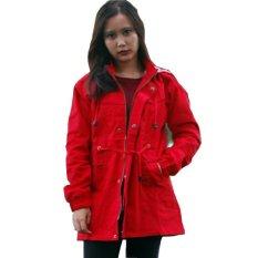 Parka Jaket Wanita Keren Merah Murah