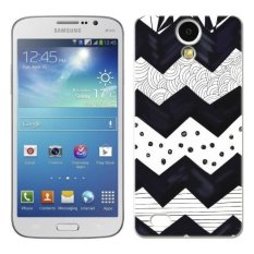 PC Plastik Wave Case untuk Samsung Galaxy Mega 6.3 Hitam dan Putih