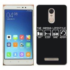 PC Plastik Gamer Kehidupan OTAKU Case untuk Xiaomi Redmi Note 3 Hitam