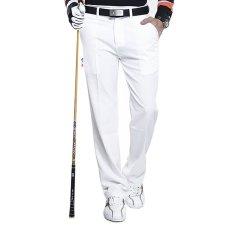 PGM Asli Desain Atas Golf Celana Ultra Tipis Pria Musim Panas Slim Fashion Celana TEE Saku Bola Cepat Kering Breathable Terbaru (putih) -INTL