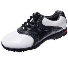 Harga Pgm Golf Pria Sepatu Kulit Sneakers Hitam Dan Putih Intl Tiongkok
