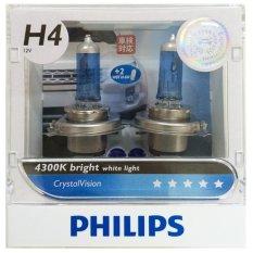 Beli Philips Crystal Vision H4 Lebih Terang Warna Elegant Berkulitas Tinggi Pake Kartu Kredit
