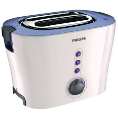 Philips HD-2630 Pop Up Toaster Pemanggang Roti – Putih-Ungu