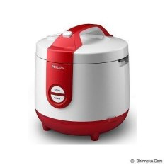 Philips  Rice Cooker HD3118/32- 2 liter - Putih/Merah