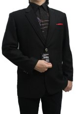 Beli Phillipe Clayton Bahan Jas Import Wool Asli Anti Bara Api Hitam Pekat Kredit