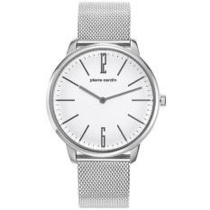 Pierre Cardin - Jam Tangan Pria - Silver-Putih - Tali Pasir - Stainless Steel - PC106991F28