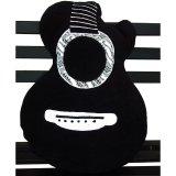 Cuci Gudang Platpe Bantal Bentuk Gitar Akustik Batik Hitam