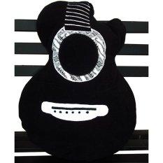 Diskon Platpe Bantal Bentuk Gitar Akustik Batik Hitam Platpe