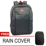 Jual Polo Water 01 H Tas Ransel Backpack Water Resistant Slot Laptop Rain Cover Hitam Branded Murah