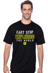 Positive Outfit Tshirt Can't Stop Exploring The World - Hitam