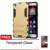 Beli Barang Case Oppo F1 Plus R9 Casing Ironman With Stand Series Gold Free Tempered Glass Online