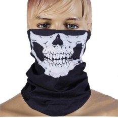 GrandJaya Masker Buff Bandana Multifungsi Skull - Hitam