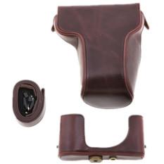 Pelindung Dilepas PU Case Kulit Tas untuk Fuji XM1 Kamera Digital (Coklat)