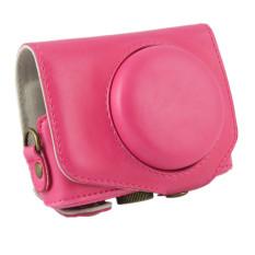 PU Leather Camera Case Bag Cover untuk Canon G7X 1 Digital + Tali Rose Merah