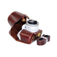 Harga Pu Leather Camera Case Cover For Samsung Nx500 Coffee Origin