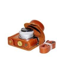 Dapatkan Segera Pu Leather Camera Case Untuk Panasonic Gf7 12 32 Lens Brown
