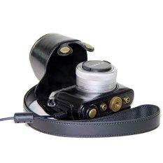 PU Leather Camera Case untuk Panasonic LUMIX GM1 GM1S GM2 (Hitam)