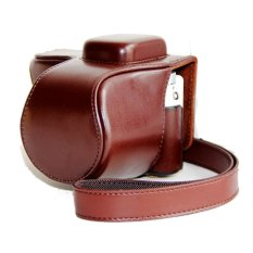 PU Leather Camera Case for Samsung NX3300 NX3000 (Coffee)