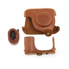 PU Case Kulit Tas untuk Canon G16 Pelindung Dilepas Kamera Digital Coklat
