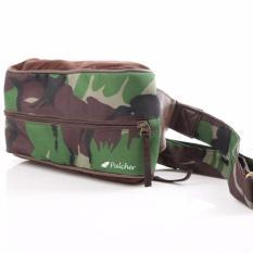 Diskon Pulcher Chester Waist Bag Army Tas Pinggang Branded