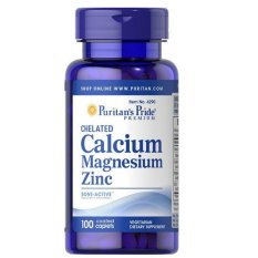 Beli Puritan Pride Chelated Calcium Magnesium Zinc Peninggi Badan 100 Caps Kredit Banten