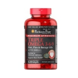 Puritan Pride Maximum Strength Triple Omega 3 6 9 120 Kapsul Asli