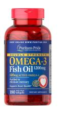 Puritan Pride Fish Oil Omega 3 Double Strength 1200mg - 180 Caps