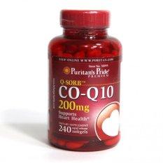 Spesifikasi Puritan S Pride Q Sorb™ Co Q 10 200 Mg 240 Rapid Release Softgels Terbaru