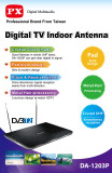 Spesifikasi Px Digital Multimedia Tv Indoor Antenna Da 1203P Baru