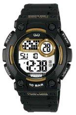 Review Toko Q Q Watch Sport Pria Hitam Kuning Rubber M141J003Y Online