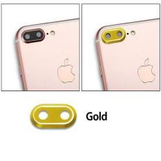 QC Metal Lens Protector / Ring Camera / Pelindung Kamera For Apple iPhone 7 Plus / Iphone7 Plus / iPhone 7G Plus / Iphone 7S Plus / iPhone 7+ Ukuran 5.5 inchi - Gold