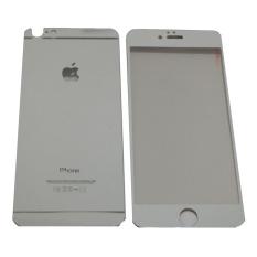 QC Tempered Glass 2in1 Mirror Kilap Glossy For Apple iPhone 6/ Iphone6/ iPhone 6G/ Iphone 6S Ukuran 4.7 Inch Screen Protector / Pelindung layar / Anti Gores Kaca / Temper - Silver