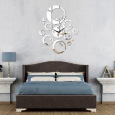 QUARTZ Watch Jam Dinding Modern Dekorasi Rumah DIY Antik Acrylic Cermin Dinding Stiker, Jam Dinding Cermin Decal