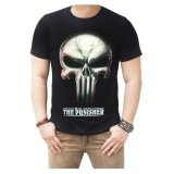 Harga Quincylabel T Shirt War Zone The Punisher Hitam Original
