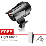 Harga Rajawali Flash Studio Strobe T 200B Free Softbox 50X70 Cm Light Stand Rajawali Ori