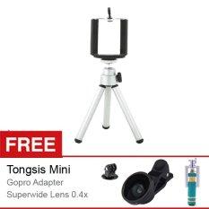 Spesifikasi Rajawali Tripod Mini Holder U Silver Gratis Paket Hadiah Baru