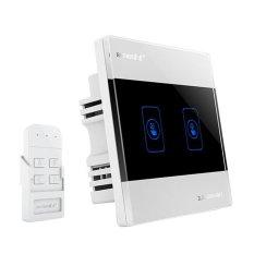 Harga Agak Rz8601 2K 4 Dinding Putih Intelligent Touch Switch 86 Panel Kaca Firewire Tunggal Kontrol Tunggal 1 Buka Ungu Remote Control Yang Bagus