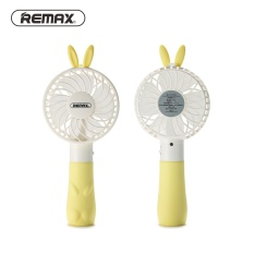 Review Remax Kipas Angin Mini Bunny Usb Rechargeable Mini Fan Portable F7 Yellow Remax