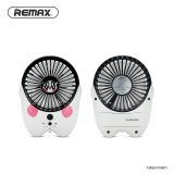 Jual Cepat Remax Kipas Angin Mini Kartun Usb Rechargeable Mini Fan Portable F6 White