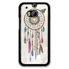Retro Dream Catcher Pola Phone Case untuk HTC ONE M8 (Hitam)