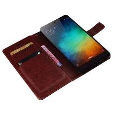 Toko Retro Flip Case Xiaomi Redmi Note 3 Retro Flip Case Cokelat Online Jawa Timur