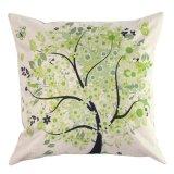 Harga Retro Vintage Nature Tree Sarung Bantal Pillow Case Case Cotton Home Decor Cushion Cover Lengkap