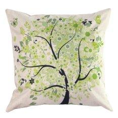 Penawaran Istimewa Retro Vintage Nature Tree Sarung Bantal Pillow Case Case Cotton Home Decor Cushion Cover Terbaru