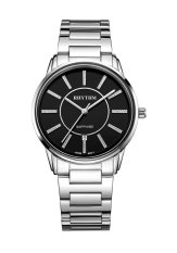 Review Rhythm G1203S 02 Jam Tangan Pria Stainless Silver Black Indonesia