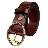 Beli Rondaful Kopi Sabuk Wanita Fashion Sabuk 100 Cowhide Genuine Leather Belts Untuk Womens Vintage Klasik Correas De Mujer Terbaru