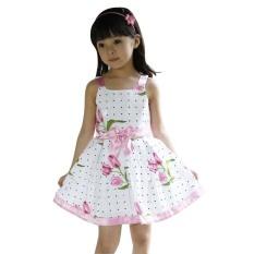 Spesifikasi Rorychen Segar Baby Anak Perempuan Floral Sleeveless Dress Murah