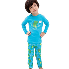 Jual Rorychen Unisex 2 Pcs Pola Dinosaurus Piyama Set Top Celana Original